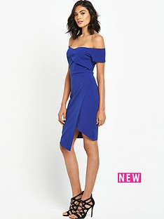 river-island-blue-bardot-dress