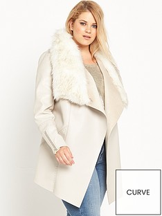 ri-plus-faux-fur-fallaway-jacket-cream