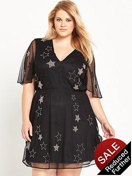 ri-plus-embellished-star-mesh-dress