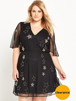 ri-plus-embellished-star-mesh-dress