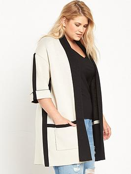 ri-plus-oversized-colour-block-cardigan-monochrome