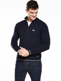 boss-green-quarter-zip-jumper