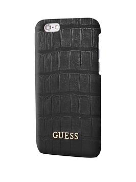 Photo of Guess guess croco - pu hard case - matte black iphone 6/6s