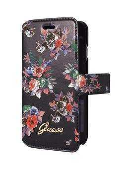 Photo of Guess blossom - pu booktype case - black iphone 6/6s plus