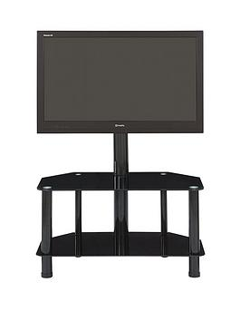 castor-tv-stand-with-bracket-fits-up-to-52-inch-tv