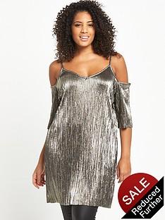 so-fabulous-cold-shoulder-plisse-tunic-gold