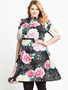 so-fabulous-curve-ruffle-keyhole-tea-dress