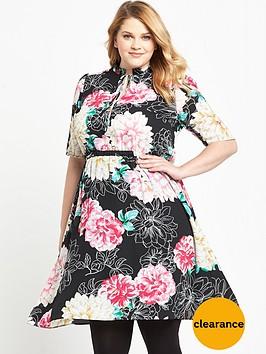 v-by-very-curve-curve-ruffle-keyhole-tea-dress