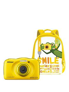 nikon-coolpix-w100nbspyellow-camera-with-free-backpack-kit