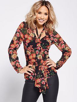 Photo of Myleene klass garden floral printed blouse