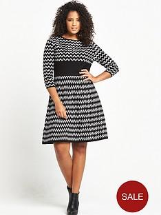v-by-very-curve-zig-zag-mono-dress