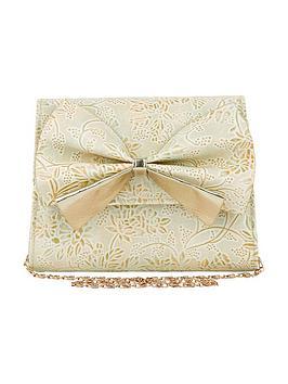 monsoon-metallic-print-bow-bag