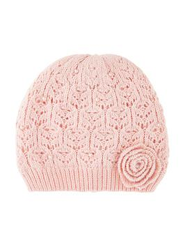 monsoon-girls-lacy-flower-pearl-beanie-hat