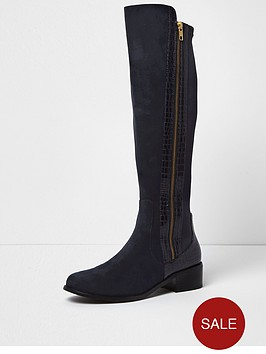 river-island-river-island-flat-knee-high-zip-side-boot