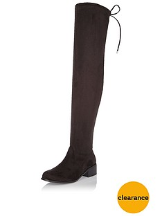 river-island-flat-tie-back-high-leg-over-the-kneenbspboot