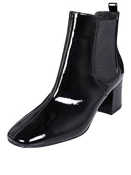 river-island-point-toe-low-ankle-patent-boot