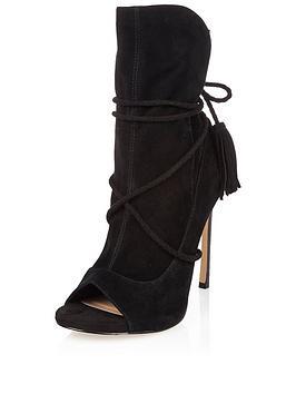 river-island-tie-up-slouchy-point-heel-peep-shoe-boot