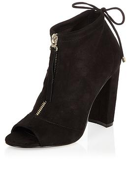 river-island-peeptoe-zip-up-shoeboot