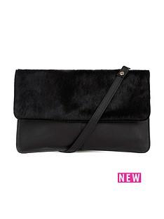 warehouse-leather-pony-hair-crossbody-bag-black