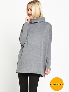 warehouse-rib-detail-roll-neck-jumpernbsp--grey