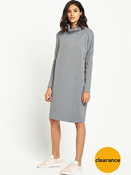 warehouse-rib-detail-roll-neck-dress