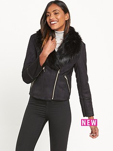 miss-selfridge-shearling-jacket-bermisnbsp--black