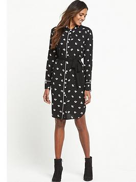 warehouse-dandy-mono-belted-shirt-dress