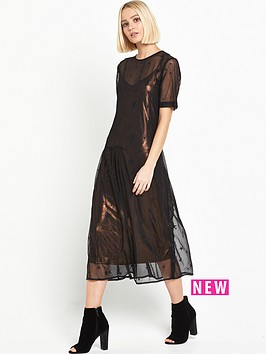 warehouse-star-embroidered-dress