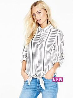 v-by-very-stripe-knot-shirt