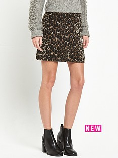 miss-selfridge-brushed-animal-skirt