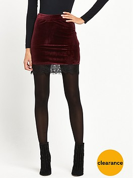 miss-selfridge-velvet-lace-hem-skirt-burgundy