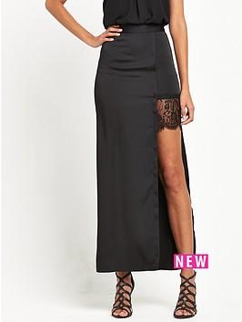 miss-selfridge-satin-lace-split-hem-maxi-skirt-black