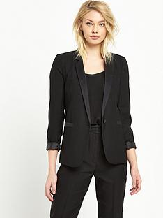 miss-selfridge-tux-jacket-black