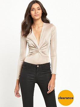 miss-selfridge-metallic-jersey-twist-front-body-gold