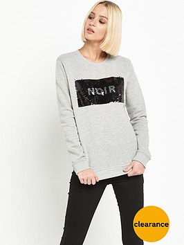 miss-selfridge-reverse-sequin-sweat-top-grey