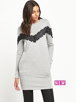 miss-selfridge-lace-appliquecircnbspsweat-dress-grey