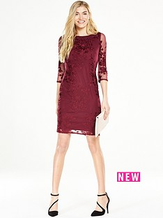 wallis-embroided-lace-shift-dress