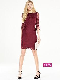 wallis-wallis-embroided-lace-shift-dress