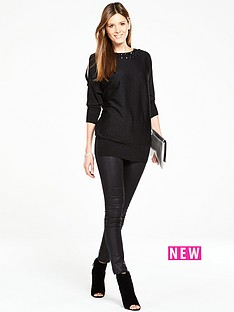 wallis-wallis-gem-neck-cold-shoulder-tunic-black