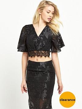 miss-selfridge-burnout-angel-sleeve-top-black