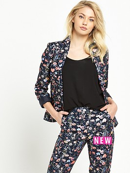 miss-selfridge-bright-floral-jacquard-blazer