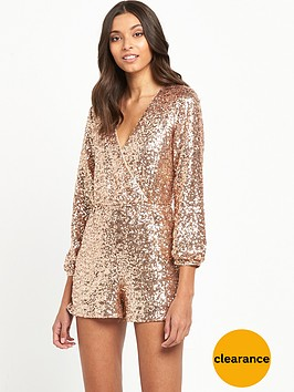 miss-selfridge-sequin-playsuit-gold