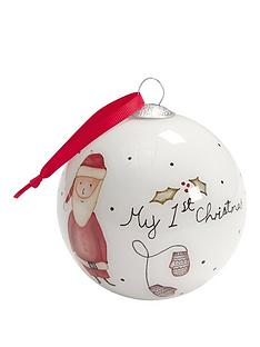 mamas-papas-my-1st-christmas-bauble-red
