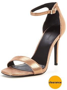 warehouse-two-part-sandal-metallic