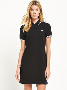fred-perry-twin-tipped-shirt-dress-black