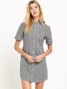 fred-perry-classic-gingham-shirt-dress-black