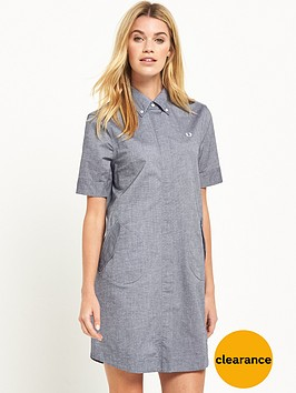 fred-perry-parka-detail-shirt-dress-carbon-blue-oxford