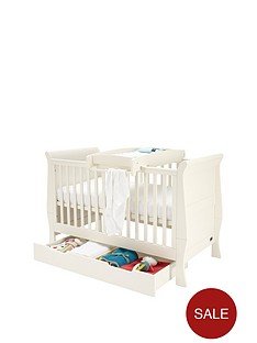 mamas-papas-mia-sleigh-cot-bed-underbed-storage-amp-cot-top-changer-ivory