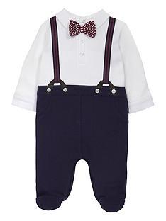 mamas-papas-mock-bowtie-all-in-one