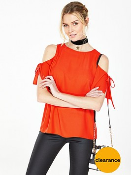 v-by-very-cold-shoulder-tie-blouse